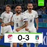 Berikut Hasil Pertandingan Euro 2020 Italia vs Turki dengan Skor 3-0